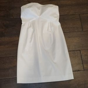 Beautiful White Strapless Dress - 6